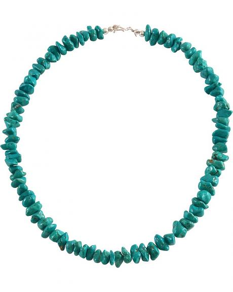 Handmade Turquoise Chunk Necklace