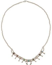 Sterling Silver Mini Blossom Stone Necklace at Sheplers