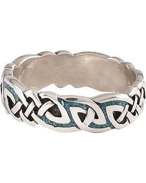 Unisex Celtic Turquoise Ring