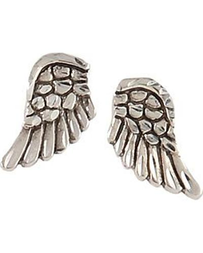 Silver Legends Sterling Silver Angel Wing Earrings Western & Country ER1150D