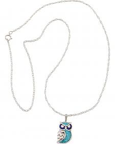 Silver Legend Sterling Silver & Turquoise Owl Necklace