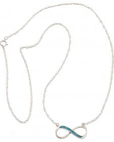 Silver Legends Sterling Silver & Turquoise Forever Necklace