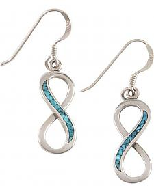 Silver Legends Sterling Silver & Turquoise Forever Earrings