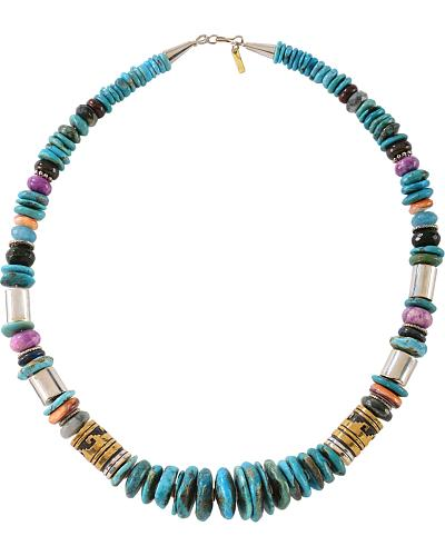 M & S Turquoise Tommy Singer Turquoise Beaded Necklace Western & Country 283521
