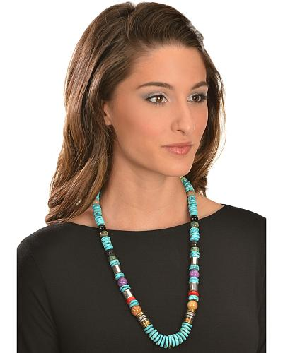M & S Turquoise Tommy Singer Turquoise Necklace Western & Country 283525