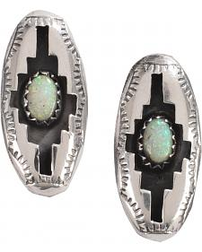 M & S Turquoise Felix Perry Blessing Sterling Silver Earrings