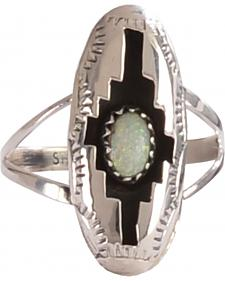 M & S Turquoise Felix Perry Blessing Sterling Silver Ring