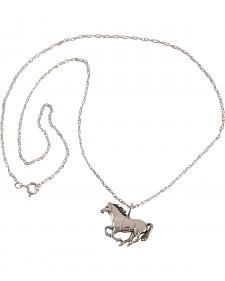 Silver Legends Women's Sterling Silver Running Horse Necklace
