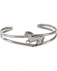 Silver Legends Women's Sterling Silver Running Horse Bracelet