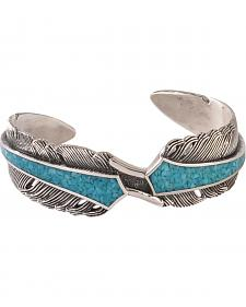 Silver Legends Women's Sterling Silver & Turquoise Feather Bracelet