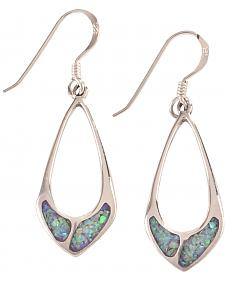 Silver Legends Women's Sterling Silver & Opal Dangle Earrings