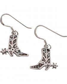 Silver Legends Women's Boot and Spur Sterling Silver Dangle Earrings