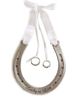 Western Wedding Ring Bearer Horseshoe