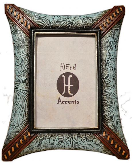 HiEnd Accents Tooled & Whipstitched Look Photo Frame - 4