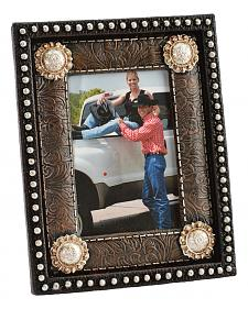 "HiEnd Accents Star Studded Concho Tooled Photo Frame - 4"" x 6"""