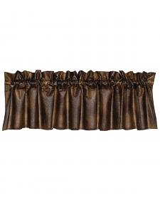 HiEnd Accents Rustic Faux Leather Valance
