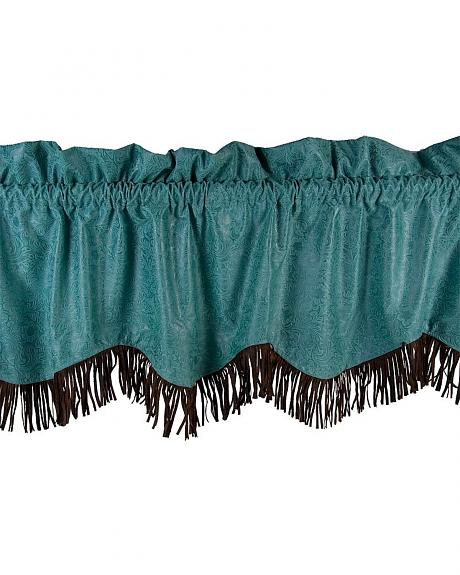 HiEnd Accents Cheyenne Tooled Faux Leather Valance