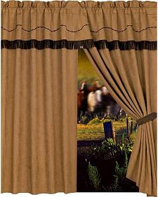 HiEnd Accents Barbwire Curtain with Attached Valance