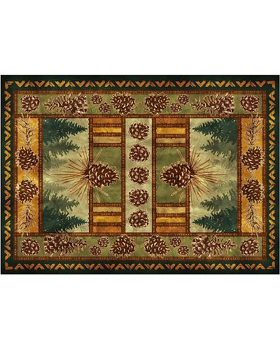 Rivers Edge Pinecone Large Door Mat Western & Country 1881
