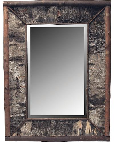 Wooden Framed Beveled Mirror Western & Country 1157