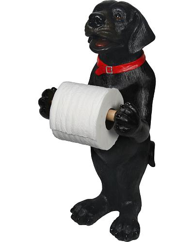 Black Lab Standing Toilet Paper Holder Western & Country #807