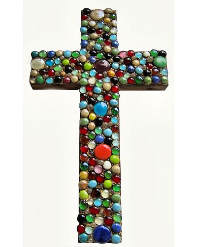 Crosses of Comfort Large Hanging Multi-Color Wood Cross Western & Country P4
