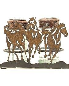Running Horses Salt & Pepper Caddy