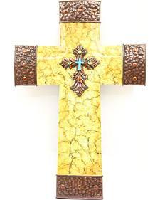 Crackled Cross Wall Art