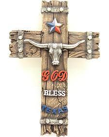 God Bless Texas Small Wall Cross