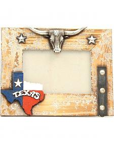 "Texas Longhorn Wooden Photo Frame - 4"" x 6"""