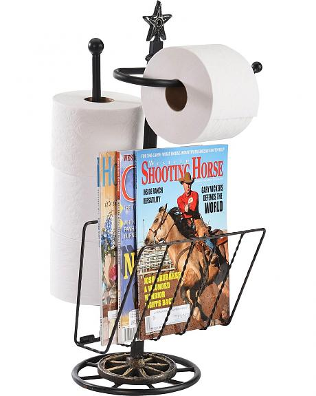 Metal Toilet Paper Holder with Magazine Rack
