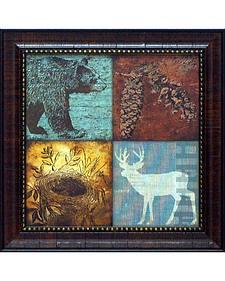 "Stephanie Marrot ""Lodge I"" Framed Wall Art - 15"" x 15"""