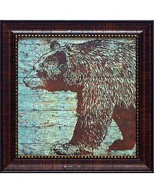 "Stephanie Marrott Lodge Bear Framed Wall Art - 15"" x 15"""