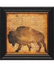 "Stephanie Marrott ""Lodge Buffalo"" Western Wall Art - 15"" x 15"""