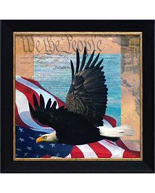 """Todd Williams """"We The People"""" Framed Wall Art - 14"""" x 14"""""""