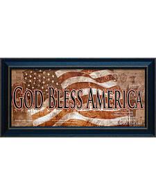 """CT Art """"God Bless America"""" Framed Wall Art - 21"""" x 11"""""""