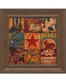 """Aaron Christensen """"Cowboy Collage"""" Framed Art - 16"""" x 16"""""""