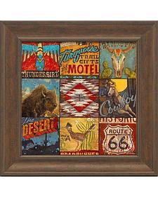 "Aaron Christensen ""Southwest Collage"" Framed Art - 16"" x 16"""