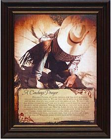 Artistic Reflections Cowboy's Prayer Framed Wall Art