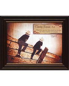 """Shawnda Eva Cowboy Reason #2 Framed Wall Art - 20"""" x 16"""""""