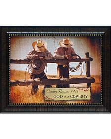 """Shawnda Eva Cowboy Reason #43 Framed Wall Art - 20"""" x 16"""""""