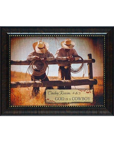Shawnda Eva Cowboy Reason #43 Framed Wall Art - 20