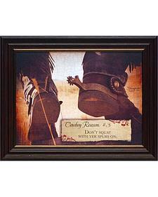 """Shawnda Eva Cowboy Reason #3 Framed Wall Art - 20"""" x 16"""""""