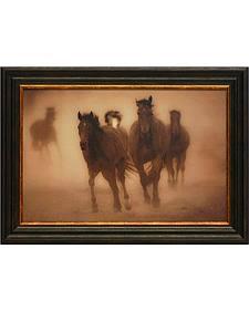 """Gary Crandall """"Sepia Horses 8"""" Framed Art - 22"""" x 16"""""""