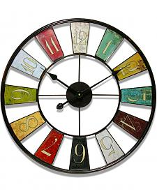 "Infinity Instruments 24"" Kaleidoscope Wall Clock"