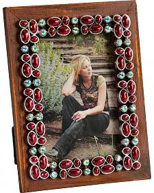 HiEnd Accents Red Stone and Bling 4X6 Photo Frame