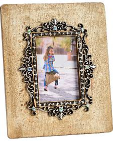 HiEnd Accents Silver Scroll & Bling 4x6 Photo Frame