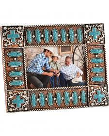 HiEnd Accents Turquoise Stone and Cross 4X6 Photo Frame