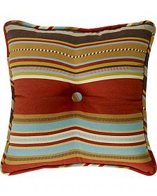 HiEnd Accents Calhoun Striped Tufted Throw Pillow