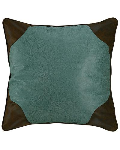 HiEnd Accents Tooled Turquoise Faux Leather Euro Sham Western & Country WS4060E2